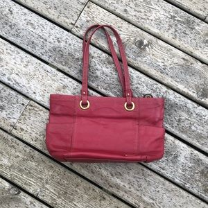 The Sak Red Leather Tote